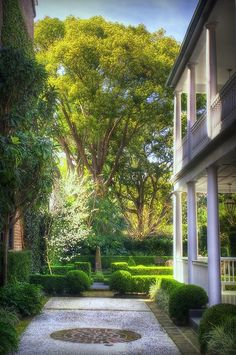 home and gardens in Charleston, South Carolina