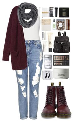 """""""Hash Pipe"""" by ellac9914 ❤ liked on Polyvore featuring Polo Ralph Lauren, Topshop, Monki, Paula Bianco, Dr. Martens, H&M, NARS Cosmetics, Chronicle Books, Laura Mercier and Threshold"""
