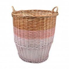 Rose in April Big Ratatouille Storage Basket - Pink Dogwood/Salmon Rose