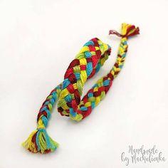 náramok upletený z bavlniek v pestrých farbách Friendship Bracelets, Handmade, Jewelry, Hand Made, Jewlery, Jewerly, Schmuck, Jewels, Jewelery