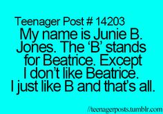 I remember this! Junie B Jones was the best Teen Posts, Teenager Posts, Teenager Quotes, Teen Quotes, Nerd, Look Here, I Can Relate, The Good Old Days, So Little Time