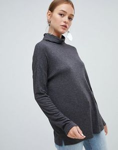 New Look Brushed Roll Neck Top