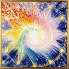 Le point central symbolise le mystérieux centre d'énergie, lieu de naissance de toute existence