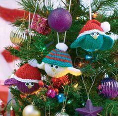 Knitted Festive Birdies xmas