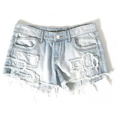 Patch Denim Short - Shorts - Womens - Glue Store ($29) ❤ liked on Polyvore featuring shorts, bottoms, pants, denim short shorts, denim hotpants, denim hot pants, hot short shorts and denim hot pants shorts