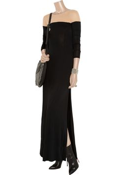 Abbey Lee mesh and jersey maxi dress by Holy Tee