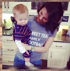 """SWEET TEA. FAMILY. FOOTBALL"" Tee as seen on Bachelor/DWTS/GMA star Melissa Rycroft 