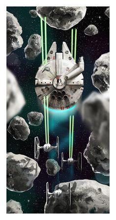 Millennium Falcon vs. TIE Fighters - Star Wars - Andy Fairhurst