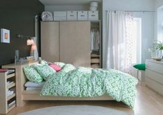 Bedroom - a place where you want to sleep well, but if you equip it with IKEA, you will be also nice to wake up in the morning.