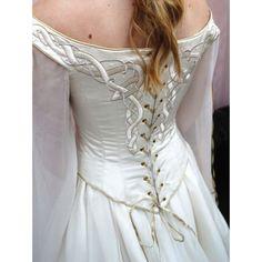 Celtic Wedding Dresses | Home > Bridal > White Celtic Medieval Inspired Wedding Dress