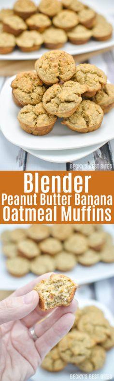 Blender Peanut Butter Banana Oatmeal Muffins http://www.beckysbestbites.com/blender-peanut-butter-banana-oatmeal-muffins/?utm_campaign=coschedule&utm_source=pinterest&utm_medium=Becky%27s%20Best%20Bites%20-%20Healthy%20Recipes&utm_content=Blender%20Peanut%20Butter%20Banana%20Oatmeal%20Muffins
