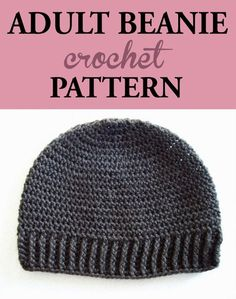 Adult Beanie Crochet Pattern - Be prepared to get a lot of orders to make this simple yet classic beanie hat crochet pattern. #crochet #crochethat #crochetbeanie #crochetpattern #crochetaccessories #crochetaddict #ilovecrochet