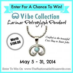 Enter for a chance to win the Larimar Petroglyph Pendant from Vibe Collection!