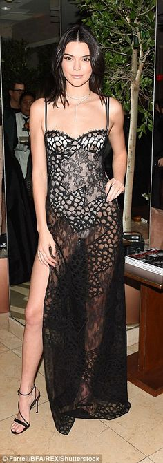 "Go for sheer style in La Perla like Kendall Click ""Visit"" to buy #DailyMail"