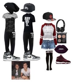 """""""Hanging with the Dolan twins"""" by reaganreynolds5000 ❤ liked on Polyvore featuring AG Adriano Goldschmied, WithChic, Marvel, MAC Cosmetics, Moschino, NIKE, Boohoo and Dolan"""