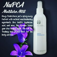 NaPCA Contains moisture-binding formula that helps you feel fresh and cool. An ideal moisturizer for skin and hair. #fresh  #moisturemist  #allnatural  #nuskinph