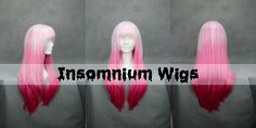 Length: 65 cm  Color: Baby pink to Dark pink gradient  Estimated shipping weight: 270 g   Material: High temprature fiber