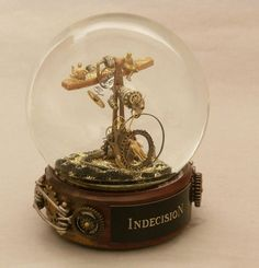 If It's Hip, It's Here (Archives): Steampunk Snow Globes By Camryn Forrest. One Of A Kind Shakeable Art.