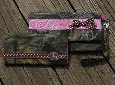 Mossy Oak Camo Pink Paisley John Deere Wallet 2 pc by purse4you, $28.00