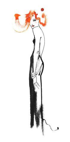 Mlle en robe noir, 2012