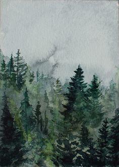Anna Chmiel  POLAND  góry-deszcz-3  #watercplor #painting #annachmil #japan #art #abstract #landscape #watercolor #painting #anna_chmiel #malarstwo #krakow #forest #mononoke