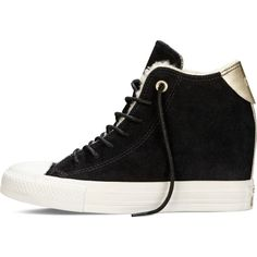 Converse Chuck Taylor All Star Lux Wedge Chinese New Year – black ($70) ❤ liked on Polyvore featuring shoes, sneakers, wedge trainers, black shoes, waist trainer, wedges shoes and wedge heel shoes