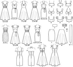 one sewing pattern, (almost) infinite options