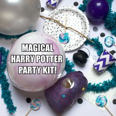 Harry Potter Party Kit available at Kit & Caboodle.