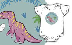 Cute Edmontosaurus Kids Clothes #edmontosaurus #hadrosaur #pink #dinosaurs #jurassic