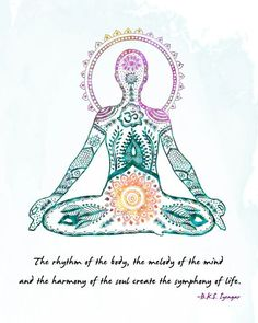 Yoga Art, Lotus Pose- 8x10 Metallic Print, Iyengar Quote on Etsy, $21.45 CAD