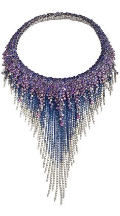 MEDUSA Necklace-WHITE GOLD, DIAMONDS (CT 12,44) AND SAPPHIRES (CT 127,86) By Damiani
