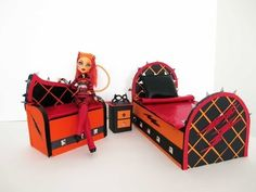 How to make a Toralei Stripe doll sofa/ Monster High