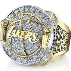Los Angeles Lakers NBA Basketball Championship Ring for Sale Click Bio to Buy… Lakers Championship Rings, Los Angeles Lakers, Love And Basketball, Nba Basketball, Basketball Jewelry, Kobe Bryant Lebron James, Nba Rings, Ringa Linga, Basketball