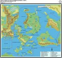 The Map of the Thyatian and Alphatian Empires from the World of Mystara.