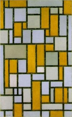 Piet Mondrian (Dutch: 1872 - 1944) | Neoplasticism | Composition with Gray and Light Brown -  1918