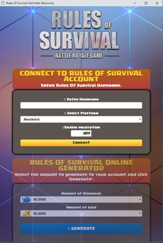 Rules of Survival Hack 2020 Updated — Free Diamonds and Gold for Android and ioS Rules of Survival MOD APK — Get Free Rules of Survival Diamonds and Gold No Human verification GUIDE Rules of… Play Hacks, App Hack, Game Resources, Battle Royale Game, Renz, Test Card, Android Hacks, Website Features, Mobile Legends