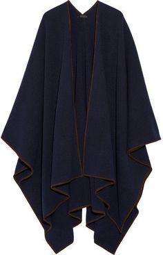 The Row - Dusana Suede-trimmed Merino Wool And Cashmere-blend Cape - Navy. Cape fashions. I'm an affiliate marketer. When you click on a link or buy from the retailer, I earn a commission.