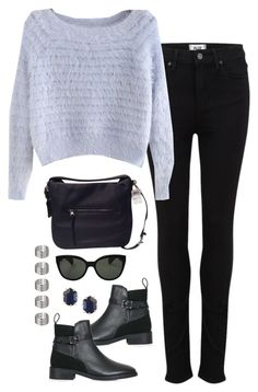 """""""Untitled #3264"""" by meandelstyle ❤ liked on Polyvore featuring Paige Denim, Topshop, Coach, Oliver Peoples and Kendra Scott"""