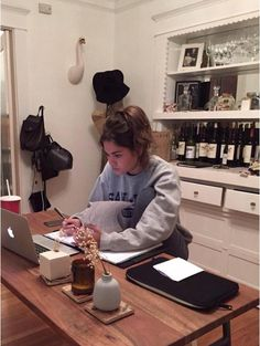 This is what it looks like when you study at her house!
