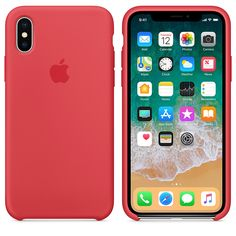 iPhone X Silicone Case - #Red Raspberry - Apple