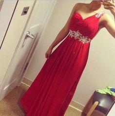 V1035 Vestido Rojo Largo It Girls Colombia