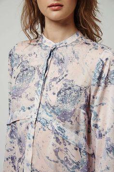 Marble Pleat Back Shirt