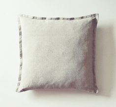 Natural Linen Pillow Cover - Unbleached Linen, Cozy Gray Linen Pillowcase by Gagano Home Studio - Kissen, Kissenbezug