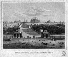 Milano. Veduta prospettica da Porta Venezia ex Porta Orientale 1830