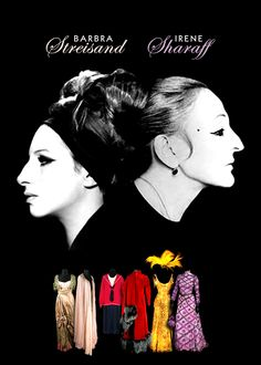 """When legend meets legend: Irene Sharaff dressed Barbra Streisand for the stage and film versions of """"Funny Girl"""", and famously for """"Hello, Dolly!"""". Sharaff's strong sense of femininity clothed Ms. Streisand's youthful exuberance and made it delicate in these films.  #streisand #sharaff #costumes"""