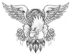Old School Eagle Tattoo Flash | eagle chest piece by michaelbrito