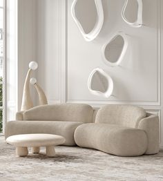 Home Living Room, Living Room Designs, Sofa Furniture, Furniture Design, Villa, Types Of Sofas, Curved Sofa, Cafe Interior, Minimalist Interior