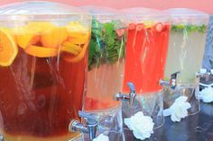 Yummy mocktails for non-boozy (but very cool) wedding drink alternatives.just add booze Party Drinks, Fun Drinks, Yummy Drinks, Alcoholic Beverages, Non Alcoholic Drinks For Wedding, Beverage Drink, Fruity Drinks, Mixed Drinks, Healthy Drinks