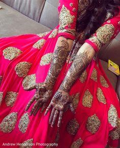 Stunning Full arms bridal mehndi. https://www.maharaniweddings.com/gallery/photo/141498