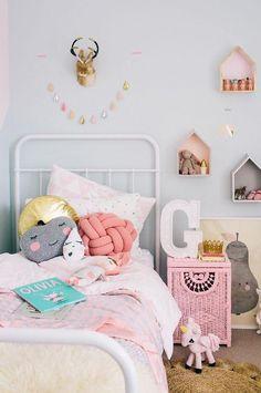 Kids bedroom, girls bedroom, little girl bedrooms. Little Girl Bedrooms, Little Boys Rooms, Big Girl Rooms, Boy Room, Girls Bedroom, Bedroom Ideas, Kids Rooms, Bedroom Decor, Scandi Bedroom